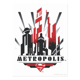 Metropolis Art Deco Postcard
