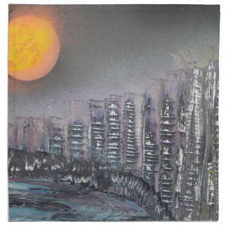 Metropolis at night napkin