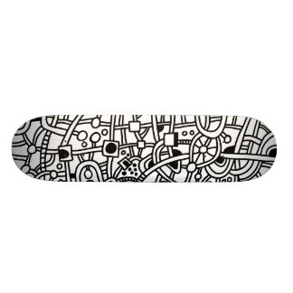 Metropolis II - Black on White 19.7 Cm Skateboard Deck