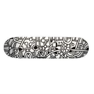 Metropolis II - On Wood Skateboard Deck