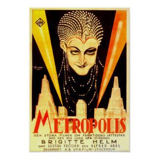 Metropolis Movie Poster, German, 1927 Poster