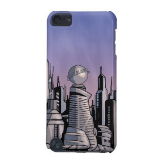Metropolis on cloudy background iPod touch (5th generation) covers