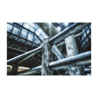 Metropolis Underground Futuristic Landscape Canvas