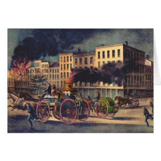 Metropolitan Firefighting System 1866 Greeting Card