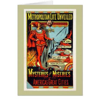 Metropolitan Life Unveiled Vintage Illustration Greeting Card