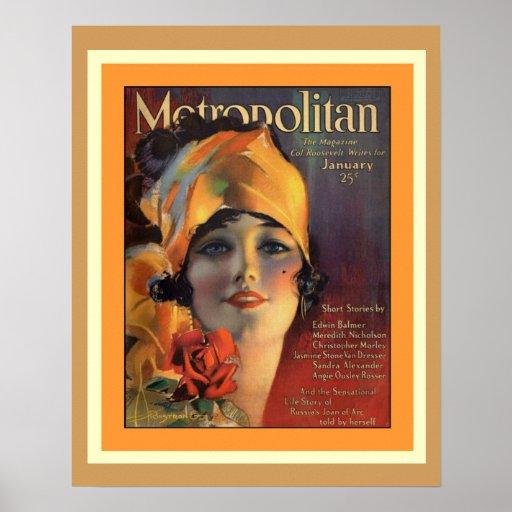 Metropolitan Magazine 1920s Cover Poster