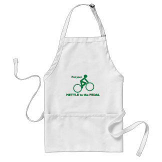 Mettle to the Pedal Aprons