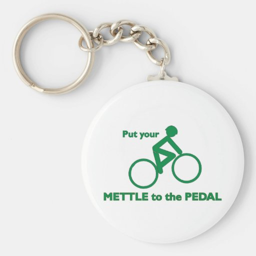 Mettle to the Pedal Key Chain