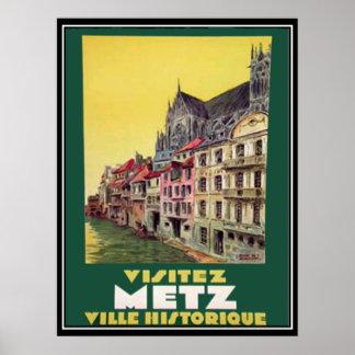 Metz France Vintage Poster