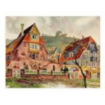 Metzendorf Watercolor German Architecture Vintage Postcard