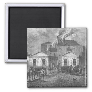 Meux's Brewery, 1830 Square Magnet