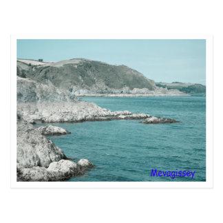 Mevagissey coastline postcard