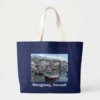 Mevagissey, Cornwall, England Large Tote Bag