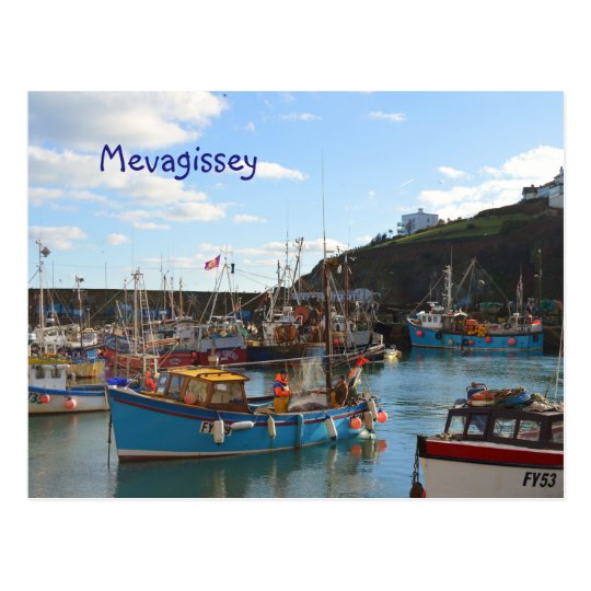 Mevagissey Cornwall England Postcard