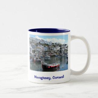 Mevagissey, Cornwall, England Two-Tone Coffee Mug