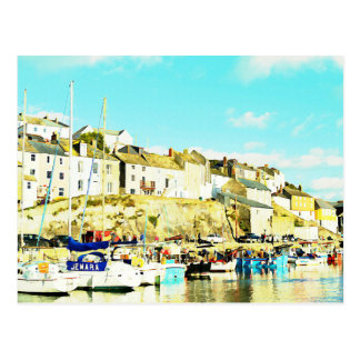 Mevagissey Cornwall England Watercolour Postcards