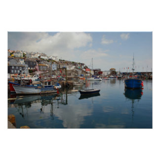 Mevagissey Reflections Poster