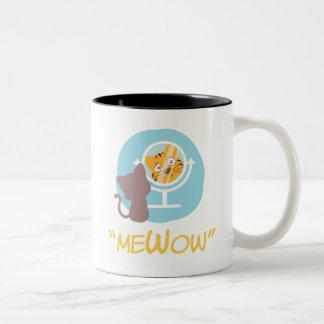 """meWow"" - (Me + Meow + Wow = MeWow) Two-Tone Coffee Mug"