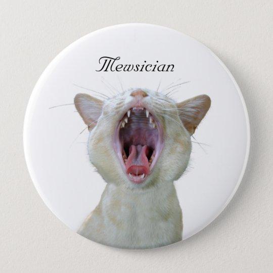 Mewsician 10 Cm Round Badge