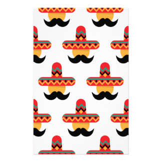 Mexcan moustache stationery