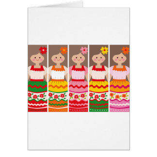 MexcianBookmark Greeting Card