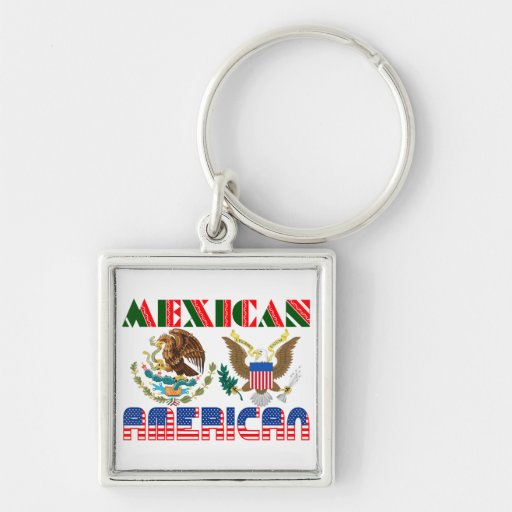 Mexican American Eagles Keychain