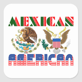 Mexican American Eagles Square Sticker