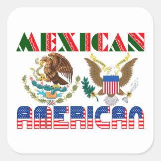 Mexican American Eagles Square Sticker