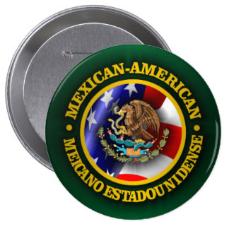 Mexican American Pride 10 Cm Round Badge