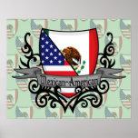 Mexican-American Shield Flag