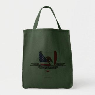 Mexican-American Shield Flag Tote Bag