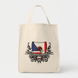 Mexican-American Shield Flag Canvas Bags