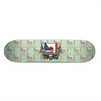 Mexican-American Shield Flag Custom Skate Board