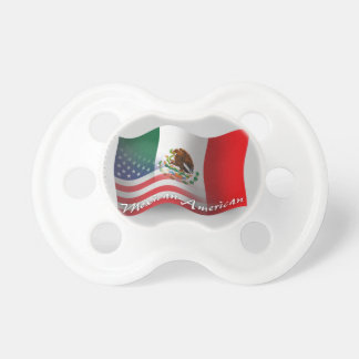 Mexican-American Waving Flag Baby Pacifier