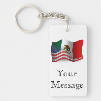 Mexican-American Waving Flag Key Ring