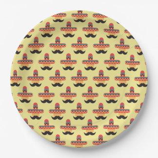 Mexican Amigo in a Sombrero Paper Plate