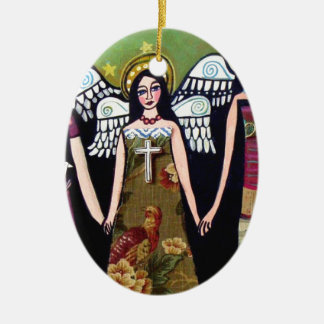 Mexican Angels by Heather Galler Christmas Ornament