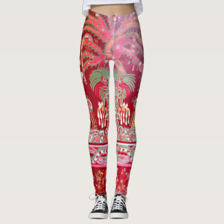 Mexican Aztec  design pattern leggings