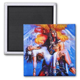 Mexican Aztec Legend Iztaccihuatl Popocatepetl Square Magnet