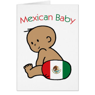 Mexican Baby Greeting Card