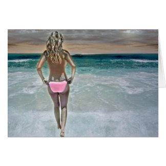 Mexican Beach Girl Card