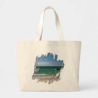 Mexican Beach Vista Canvas Bags
