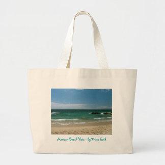Mexican Beach Vista Tote Bags