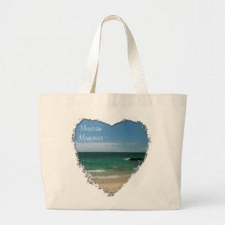 Mexican Beach Vista; Mexico Souvenir Tote Bags