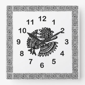 Mexican Bird Motif Wall Clock