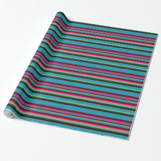 Mexican Blanket Rainbow Stripes Wrapping Paper