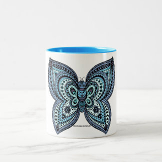 Mexican Butterfly Blue Mug