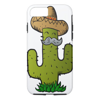 mexican cactus with mustache iPhone 7 case