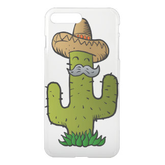 mexican cactus with mustache iPhone 7 plus case