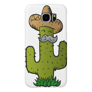 mexican cactus with mustache samsung galaxy s6 cases
